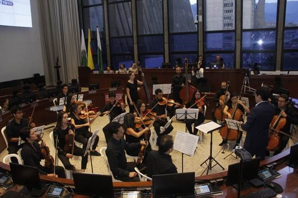 Orquesta del director Juan Daniel Montoya Valencia